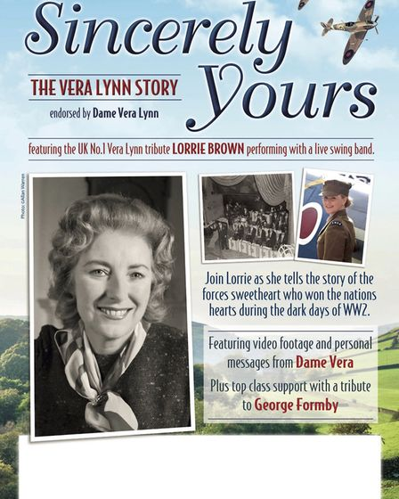 Award-winning Vera Lynn tribute Sincerely Yours, The Vera Lynn Story is coming to The Radlett Centre