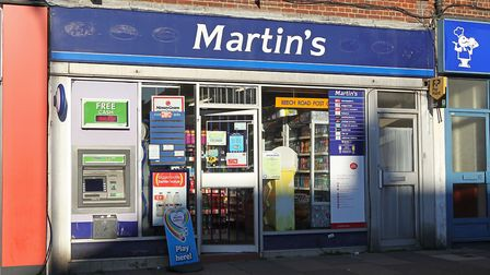 The Martin's newsagents on Beech Road