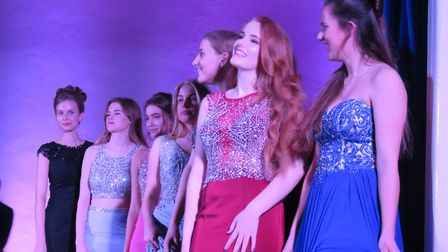 Bassingbourn Village College students at their fashion show.