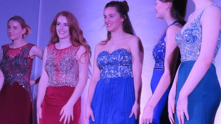 The Year 11 students at the prom show.