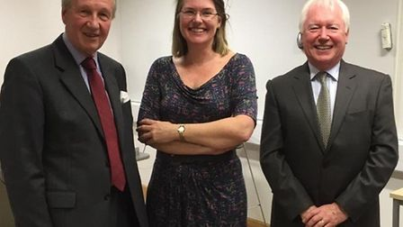 Sir Hugh Duberly, Addenbrooke's consultant paediatric ophthalmologist Louise Allen and Fight Against