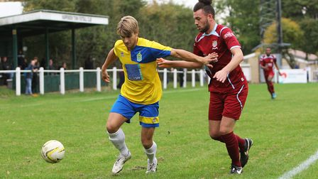 Harry Hunt in action for Harpenden. Picture: KARYN HADDON