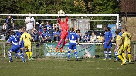 Tom Gowers in action for London Colney. Picture: KARYN HADDON
