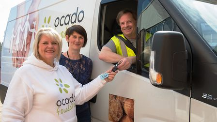 St Albans food bank receives refrigerated delivery van from Ocado