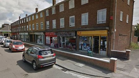 Shops in Haseldine Road, London Colney - photo courtesy Google Street View.
