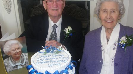 Geoffrey and Doreen Lonsdale of Royston celebrating their 65th wedding anniversary.