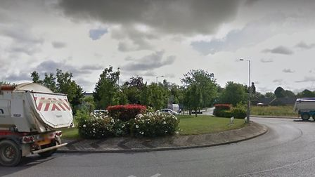 The A1123 roundabout near the Compass Point Business Park, in St Ives. Picture: GOOGLE