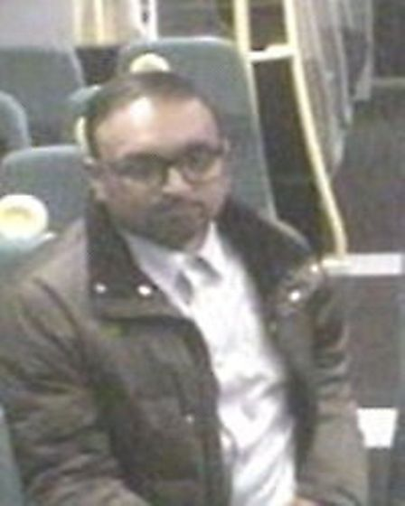 CCTV image of man British Transport Police would like to speak to in connection with indecent exposu