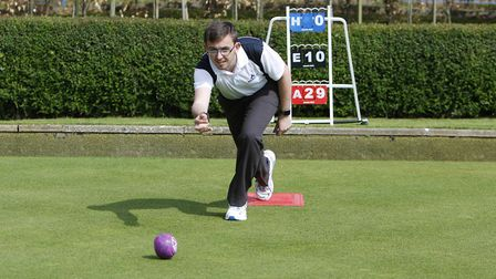 Royston Bowling Club Open Day - Glenn Williams in action on the bowling green. Picture : Karyn Hadd