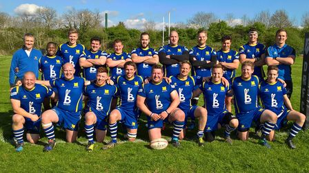 St Ives, pictured ahead of their season-ending success at Daventry, are back row, left to right, Phi