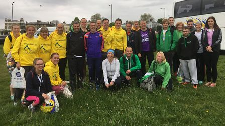 Riverside Runners athletes pictured at the London Marathon.