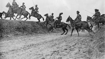 The Bengal Lancers go 'over the top' at the Battle of Arras. Picture: Imperial War Museum