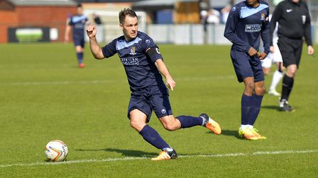 Only the combination of a fine save and the crossbar denied Micky Hyem a goal in St Neots Town's cla