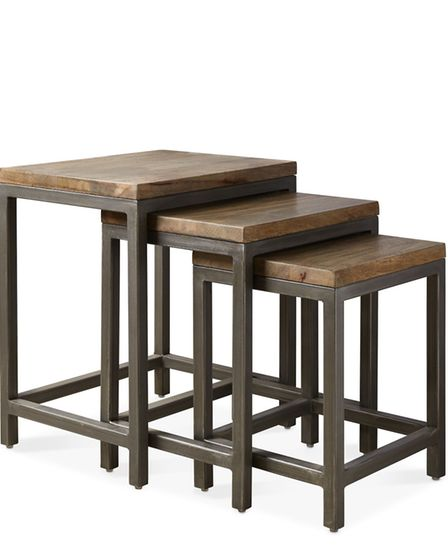 By bringing an industrial take to a traditional design, the Finnick brings nesting tables up to date