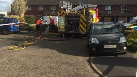 A picture of the gas main fire, sent in by reader Laurence Lane