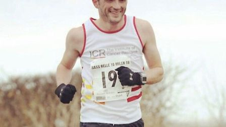 Paul Harris from Royston is set to run the marathon this weekend.