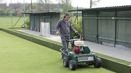 Foxton Bowls Club are preparing for opening day. Picture: Mike Mander