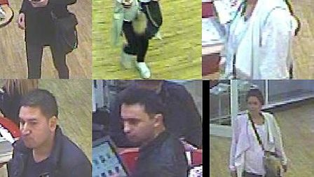 Police are looking to speak to these people in connection with purse-dippings in Berkhampsted and Tr
