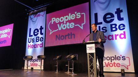 Alastair Campbell at the last Let Us Be Heard event in Leeds. Photograph: People's Vote.