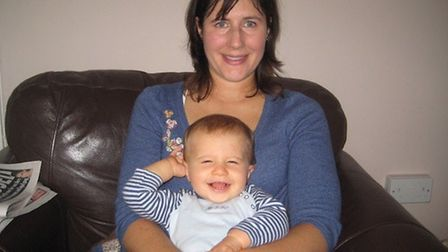 Jenny with Henry, when she was unwell