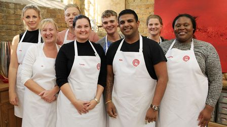 Lyndsay with other MasterChef contestants. (C) Shine TV - Photographer: Production