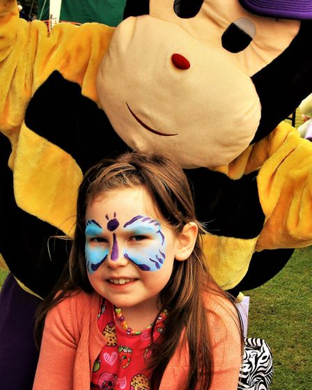 Alissa Taylor got her face painted at the May Fayre. Picture: Clive Porter