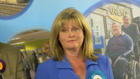 Anne Main at St Albans election night
