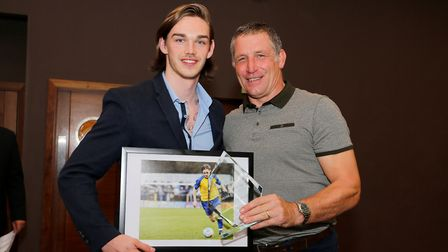 Tom Bender was St Albans City's player of the year. Picture: LEIGH PAGE