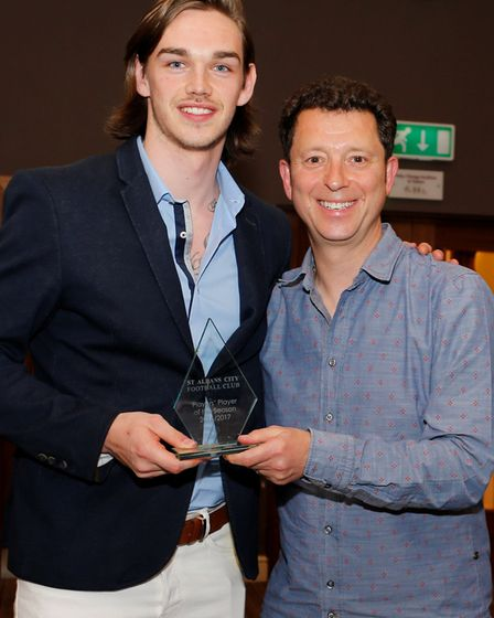 Tom Bender was St Albans City's players' player of the year. Picture: LEIGH PAGE