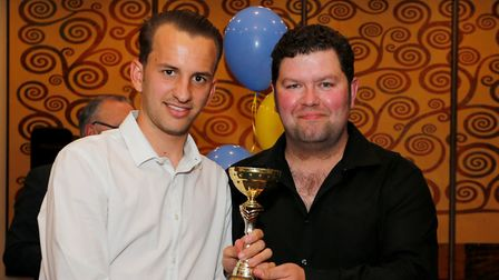 Sam Merson was presented with the top scorer award for St Albans City. Picture: LEIGH PAGE