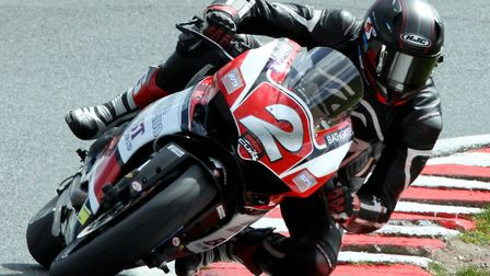 Jon Railton during the latest round of the Ducati Performance TriOptions Cup. Picture: NIGEL SHEARIN