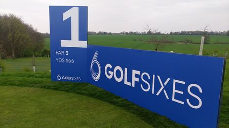 The first hole at the GolfSixes tournament at Centurion Club