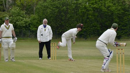 George Smith took two wickets in Needingworth's win against Chatteris. Picture: DUNCAN LAMONT