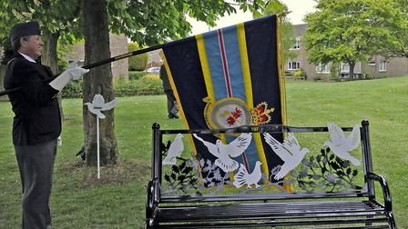 Memorial service at Sapley Playing Fields, in Huntingdon.
