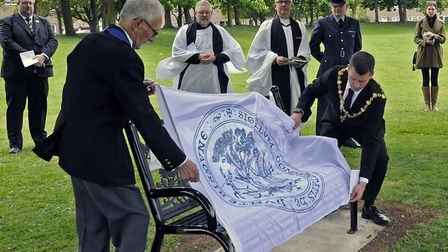 A memorial event was held in Sapley Playing Fields, Huntingdon, to mark 40 years since the Oxmoor di