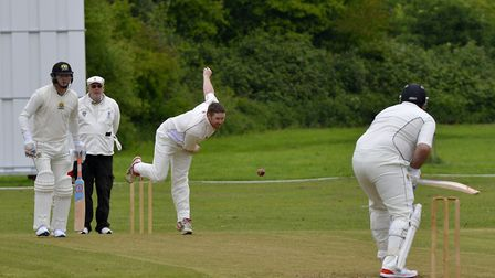 Paul Swannell took three wickets for Godmanchester Town against Eaton Socon. Picture: DUNCAN LAMONT