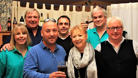The Save The Cabinet action group at their second pop-up pub evening in Reed. Picture: Clive Porter