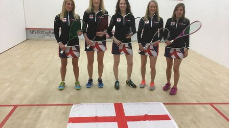 St Albans' Louisa Dalwood with the rest of the England masters side.