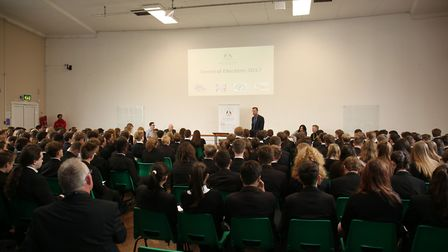 The hustings event at Bassingbourn Village College with years 10 and 11 and the parliamentary candid