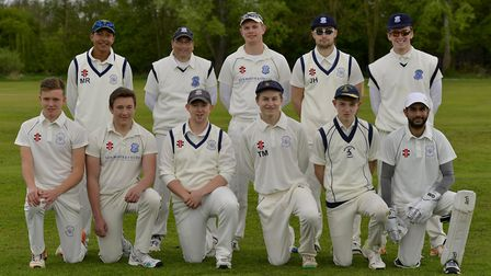 St Ives, pictured ahead of their defeat at Godmanchester Town, are back row, left to right, Murray R