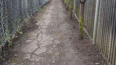 The footpath after the debris was cleared up. Picture: Dennis Cowen