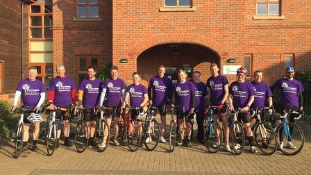Connect Plus cycling team outside The Hospice of St Francis