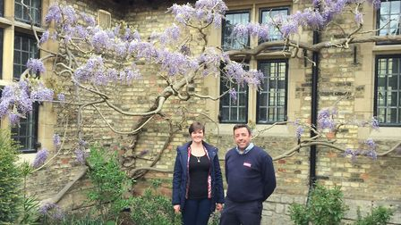 Sarah Russell, museum director, and Rick Turner of Andy Knott Construction Ltd