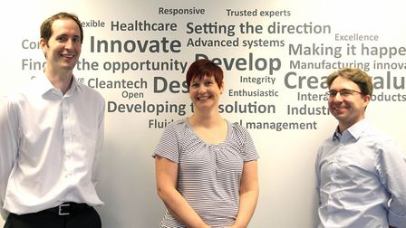 (L-R) Jon Spratley, Sue Smith and Jeremy Carey from 42 Technology Ltd.