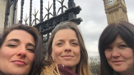 Melissa Santiago-Val, Sue Young and Jo-Anne Newman going to present to DWP Select Committee.