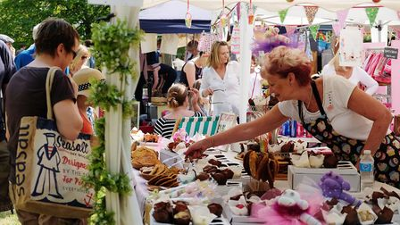 A cake stall at Barkway Market last year.