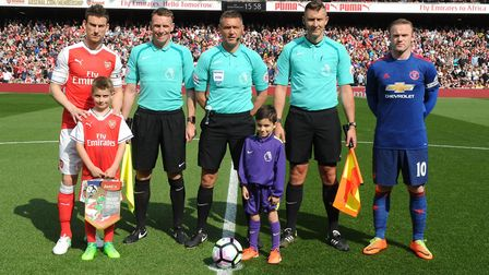 Lall Swales lines up before Arsenal's clash with Manchester United. Picture: Stuart MacFarlane/Arsen