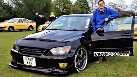 Simon Parr is the owner of this two-litre, six-cylinder Lexus IS. Picture: Clive Porter