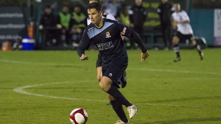 Tom Wood will be a St Neots Town player again next season. Picture: CLAIRE HOWES