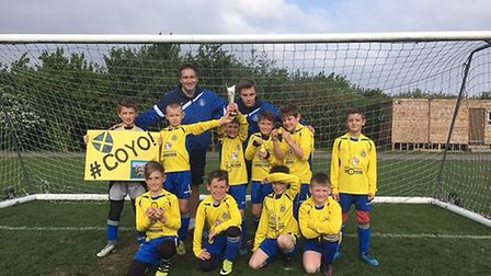 St Albans City Youth U9 Orient won the MHRML purple division cup final.